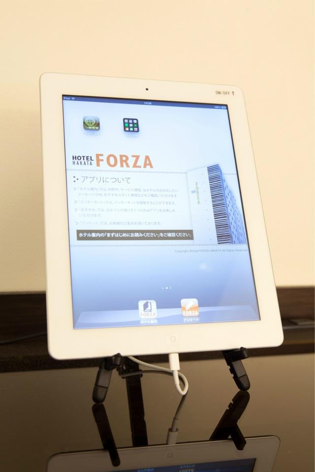 【福岡・ホテルフォルツァ博多】博多のおいしいお店を「iPad」でご紹介
